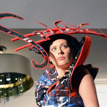 Swarez Bayyat couture hat