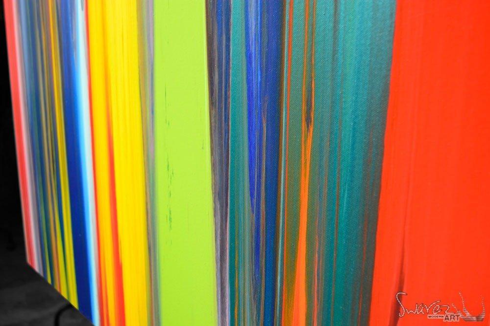Lines Painting Original Multi Coloured Art Striped