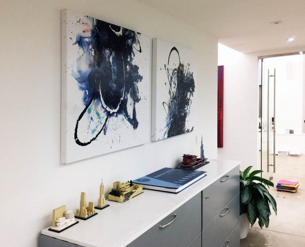 Diptych-canvas-painting-in-an-office
