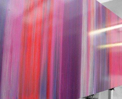 Purple art in stripes