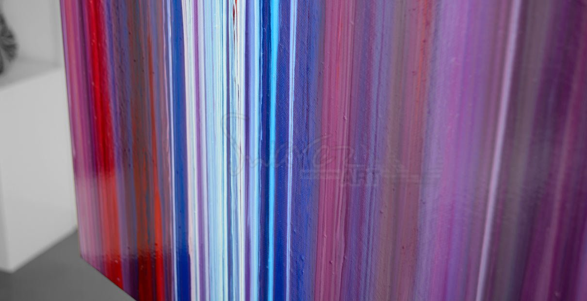 Long striped abstract art