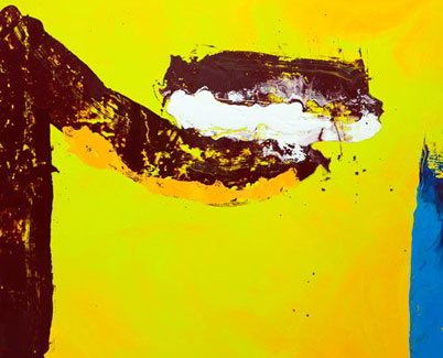 Yellow art canvas