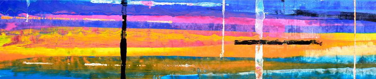 Blue-and-pink-and-orange-painting