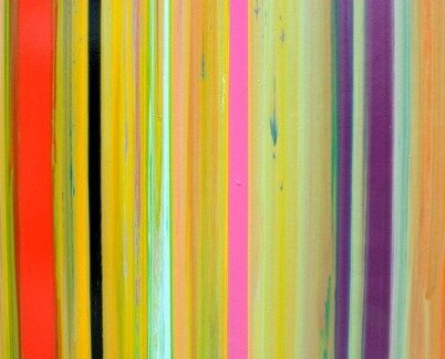 Colorful stripes on canvas