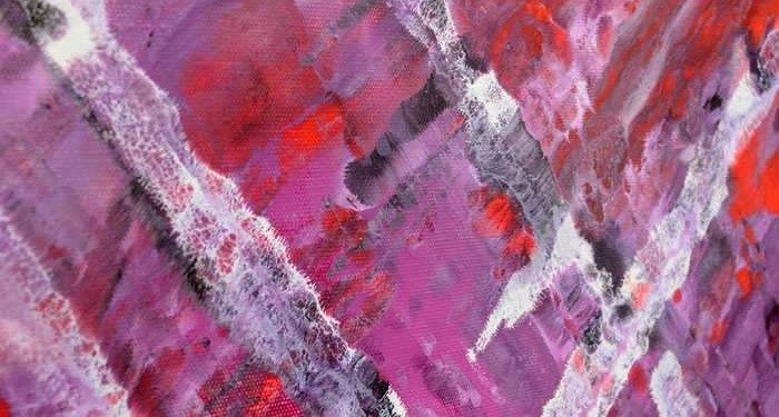Large sized piece of purple art