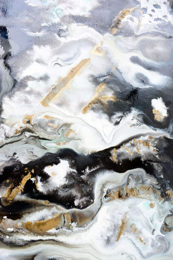 Black And Gold Art Large Original Painting Piledriver