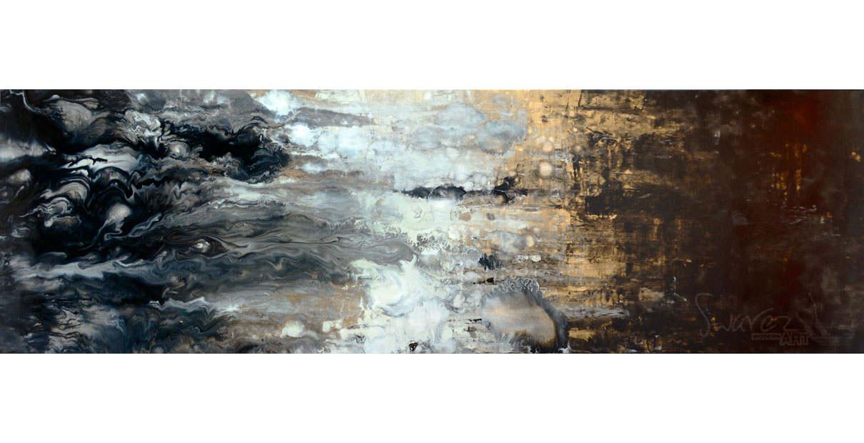 It Never Rains long slimline original art
