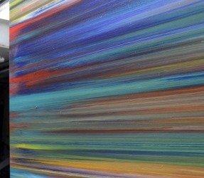 Horizontal stripes art
