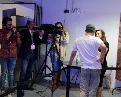 Swarez interviewed for TV