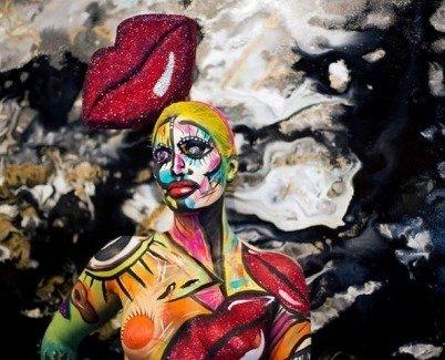 Mona Turnbull body art creation