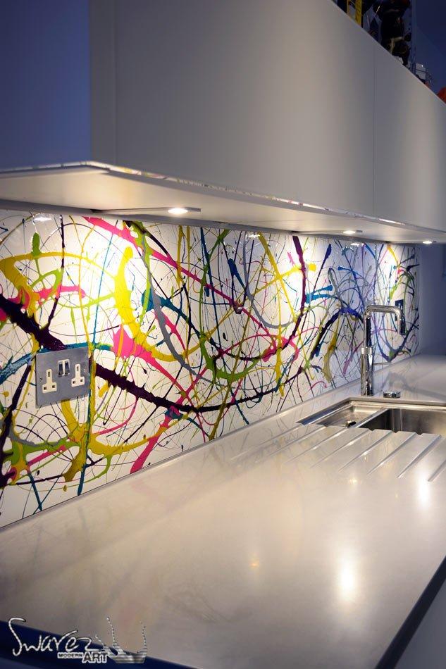 Kitchen Splashbacks Commission Hand Painted Acrylic Art