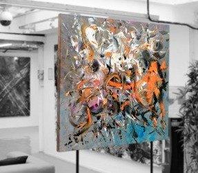 art in an artists studio