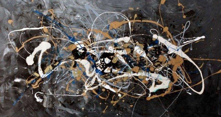black and grey abstract art