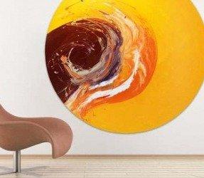 round orange painting