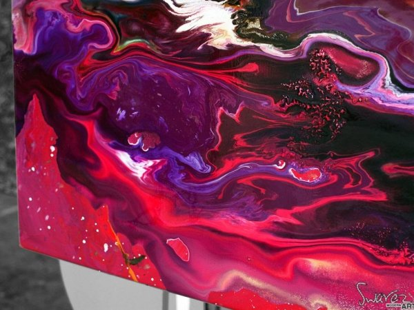 Bottom left corner of A Hopeful Transmission painting