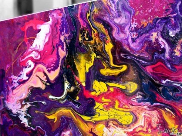 Fluid purple paint
