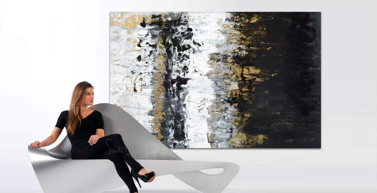 Luxury sofa and art