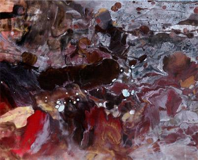 Burgundy painting
