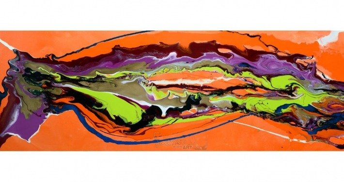 Orange Swoosh 180cm x 60cm
