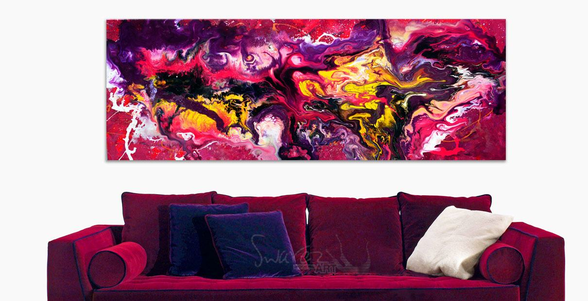 Purple dralon velour sofa