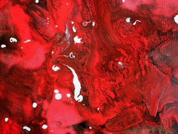 Rich red paints on canvas