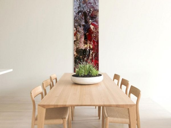 Tall painting for a dining room