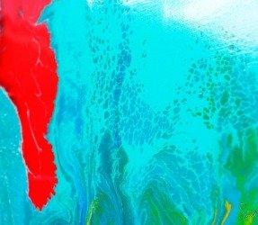 Aqua blue painting