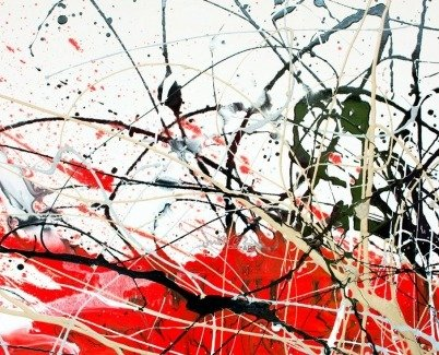 Complex paint applications on canvas