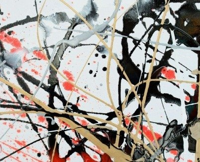 Drip painting styled splash art