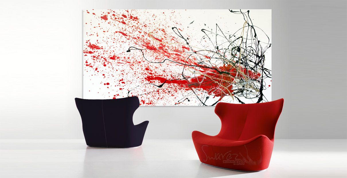 Very large drip and splash art