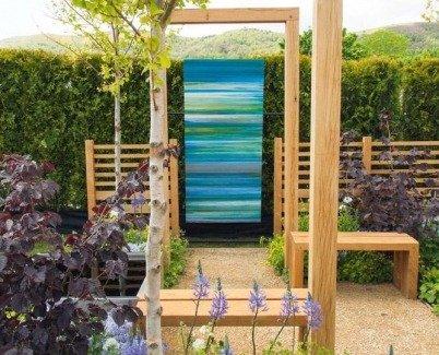 A Swarez original artwork inspiring garden designer Emily Sharpe