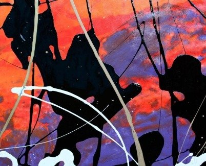 Large orange and purple based art