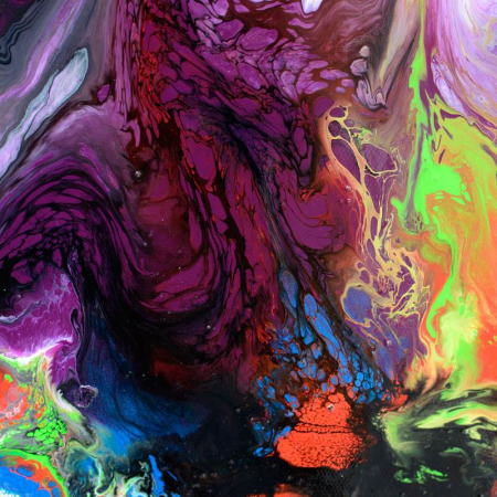 swirling multi-colored paints