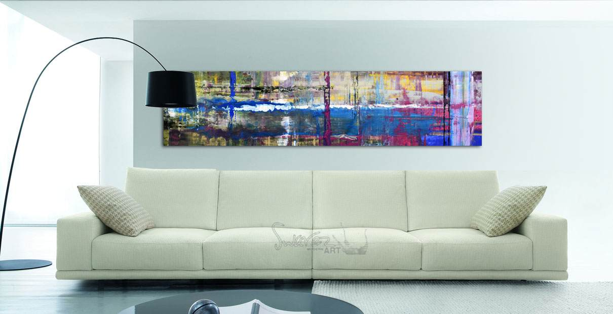 Modern sofa and art