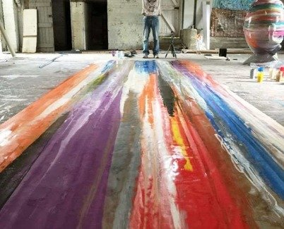 20ft long painted canvas