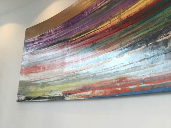Large painting at Canary Wharf apartments