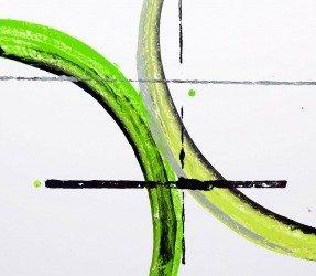Green arcs of paint