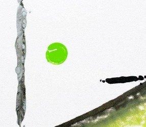 Minimal lime green art
