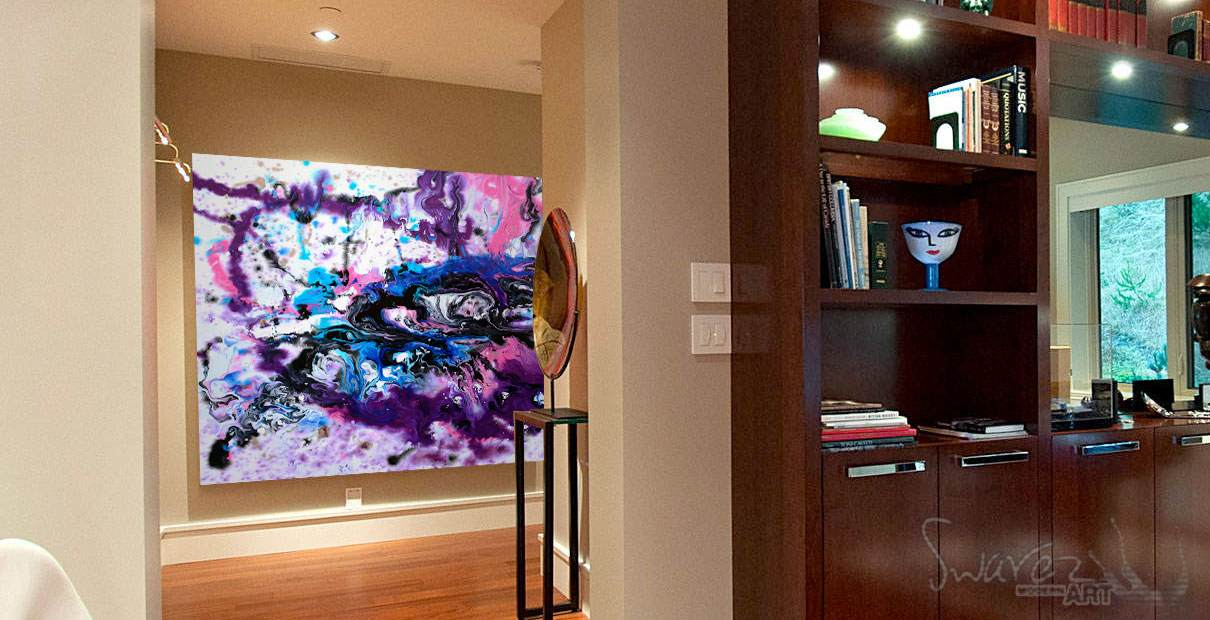 Art in a penthouse office
