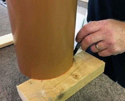 Marking a curve on a piece of timber