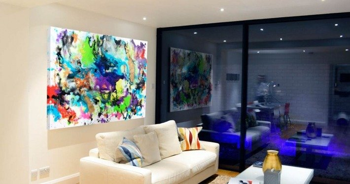 Rainbow coloured art