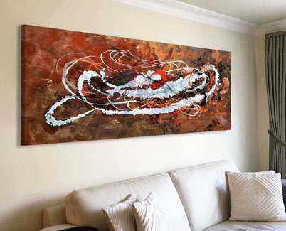 Bronze-coloured-art-on-a-wall