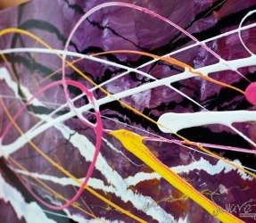 Purple paint layers