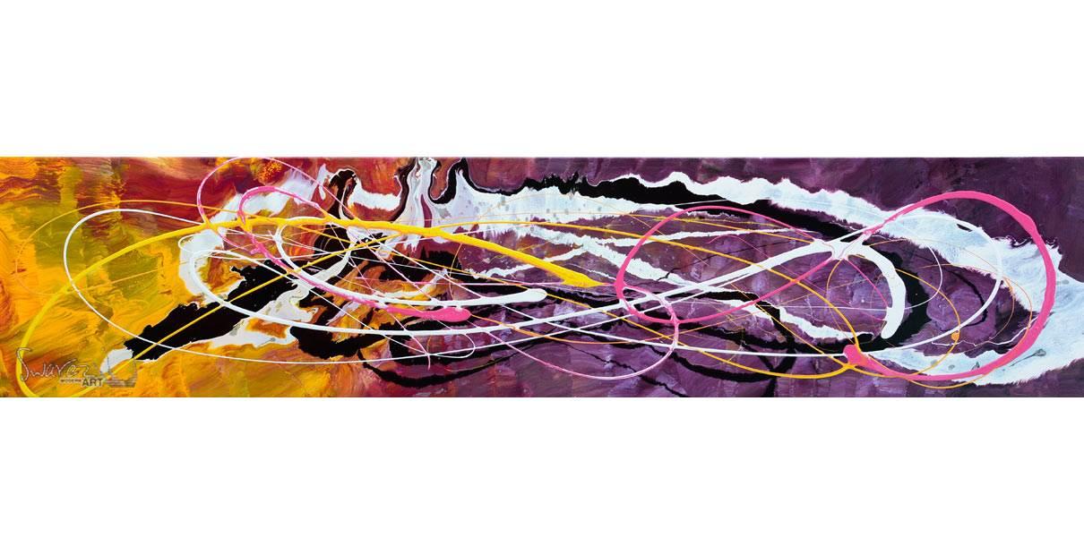 Sunset yellow and deep purple art