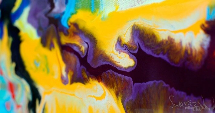 colourful abstract painting called Quantum Rainbow