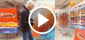 Video of Red Clay Halo painting