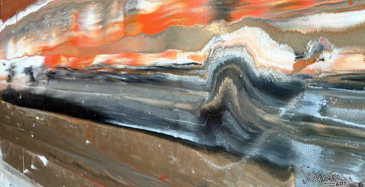 Art inspired by rock strata and geology