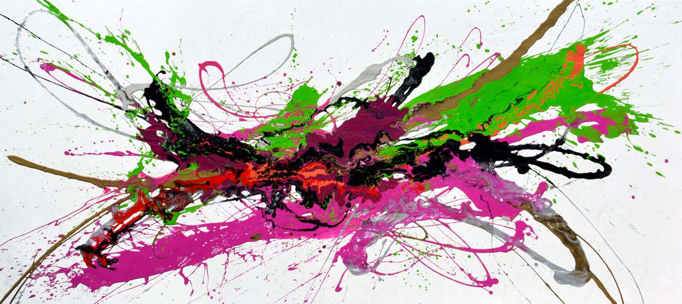pink and green art