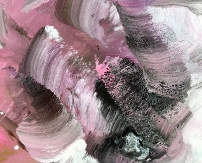 Dark burgundy and pink paint swirls