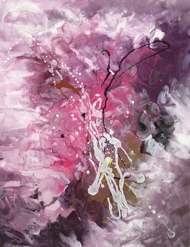 Large pink modern art
